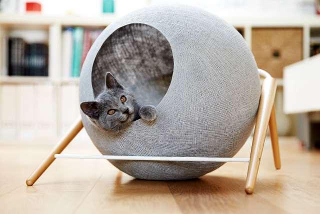 Сделать круглый домик для кошки своими руками